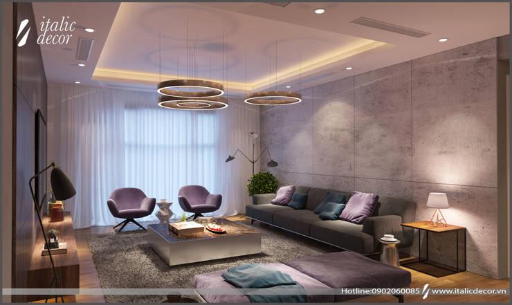 CĂN HỘ PARAGON:  Phòng khách by ITALIC DECOR