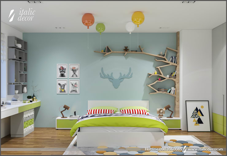 CĂN HỘ PARAGON:  Phòng trẻ em by ITALIC DECOR