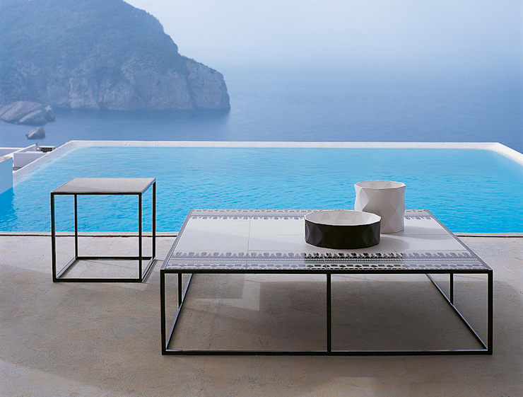 Canasta Coffee Table by B&B Italia:  Balconies, verandas & terraces  by Campbell Watson,