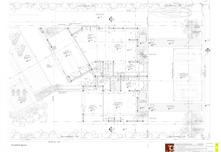 Casa NC:  de estilo  por Development Architectural group
