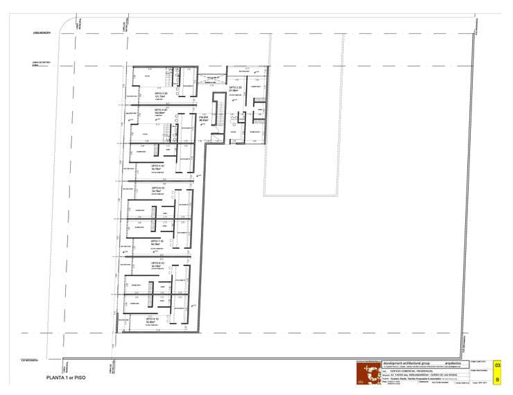 Edificio Fader / Anteproyecto Locales comerciales, Oficinas y departamentos:  de estilo  por Development Architectural group