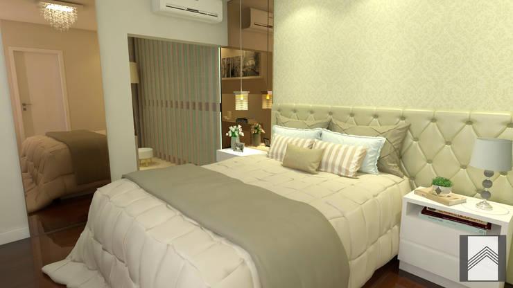Projekty,  Sypialnia zaprojektowane przez Abitarte - Arquitetura e Interiores