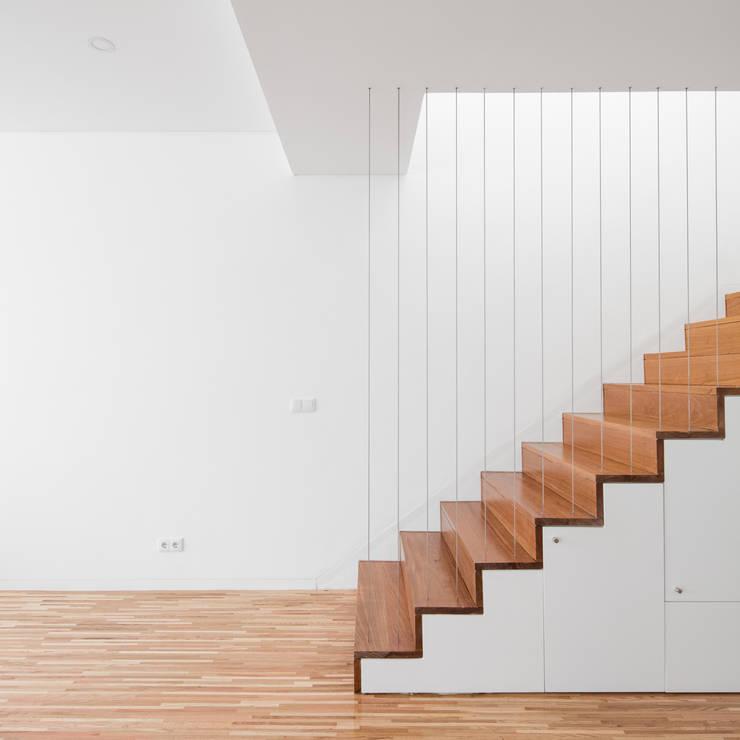 Pasillos y vestíbulos de estilo  por Plano Humano Arquitectos