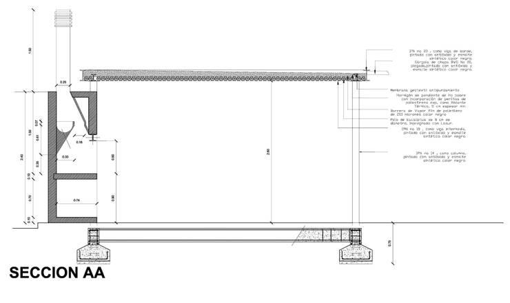 QUINCHO/GARAGE MPG:  de estilo  por Development Architectural group
