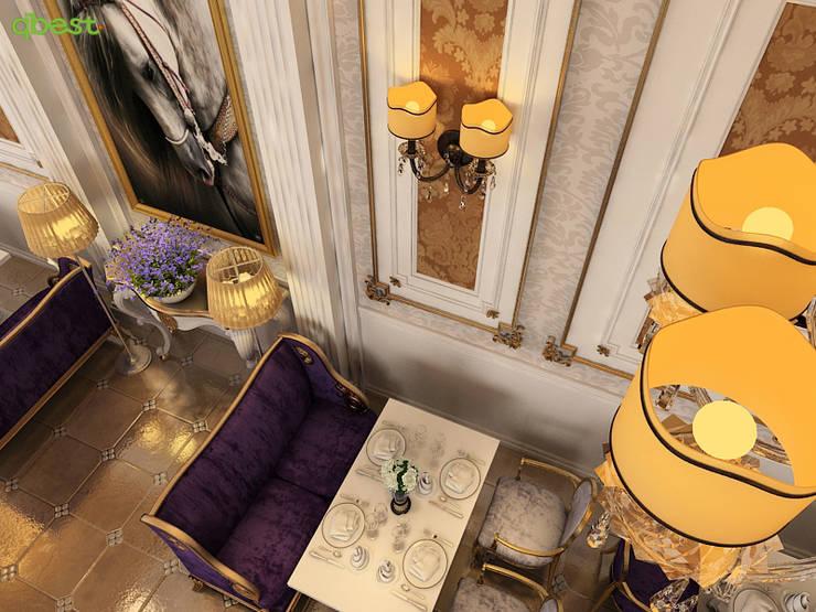 Phối cảnh nội thất:  Bedroom by Công ty TNHH Thiết Kế và Ứng Dụng QBEST