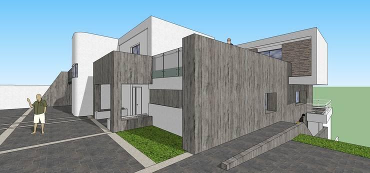 Pespectiva de la fachada: Casas de estilo  por MARATEA Estudio