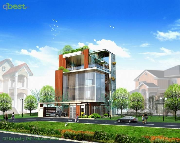 Thiết kế kiến trúc biệt thự:  Biệt thự by Công ty TNHH Thiết Kế và Ứng Dụng QBEST