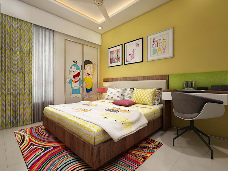 Kids bedroom: minimalistic Nursery/kid's room by The inside stories - by Minal