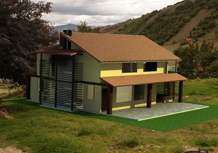de estilo  por Daniel Castro Industrial + Interior design