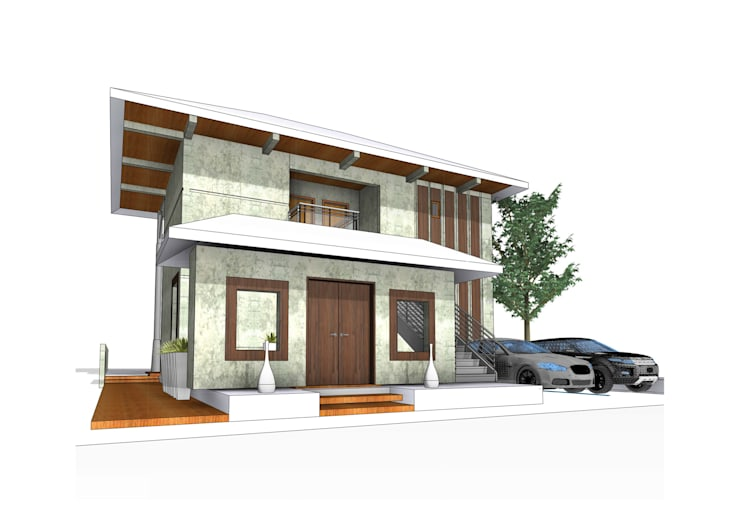 Weekend  Villa - Kerala: minimalistic Houses by One sq. meter Architects & Interior Designers