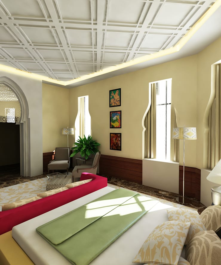 Arabian Villa:  Bedroom by GPDS Architects & Interior designers