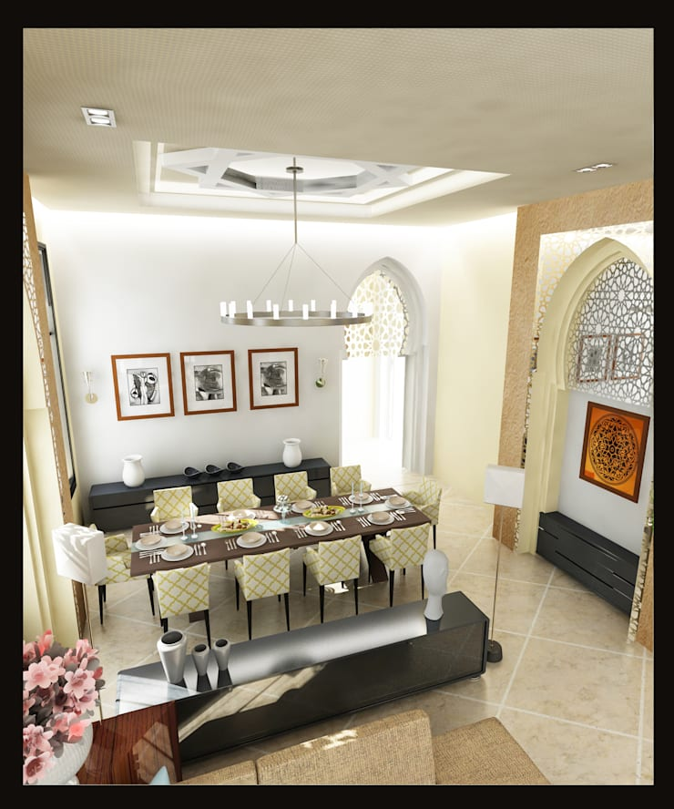 Arabian Villa:  Living room by GPDS Architects & Interior designers