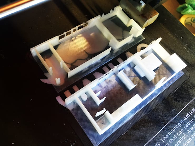 Alteration 3d print in progress:   by A4AC Architects
