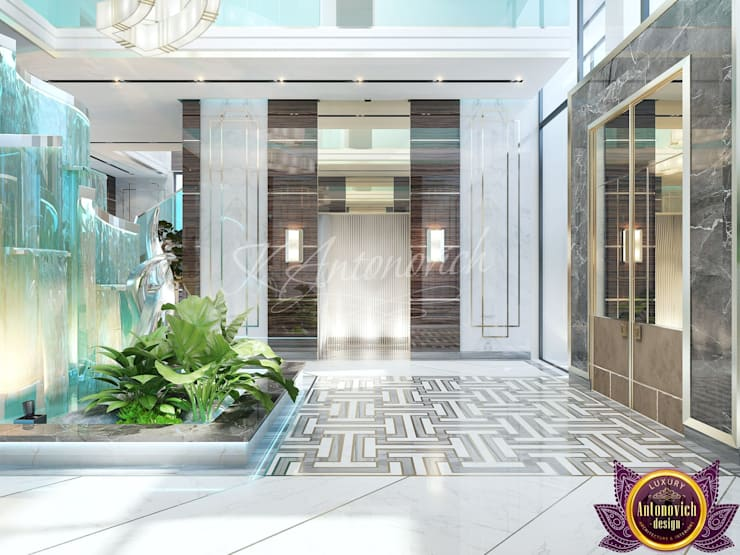 ​  New look at luxury and comfort of Katrina Antonovich:  Corridor & hallway by Luxury Antonovich Design