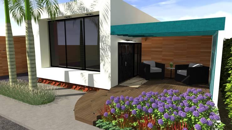 Vivienda Unifamiliar: Salas / recibidores de estilo  por N.A. ARQUITECTURA