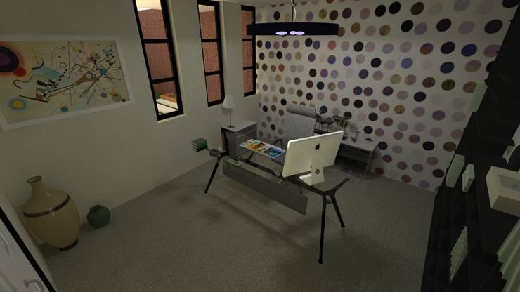 Vivienda Unifamiliar: Oficinas de estilo  por N.A. ARQUITECTURA