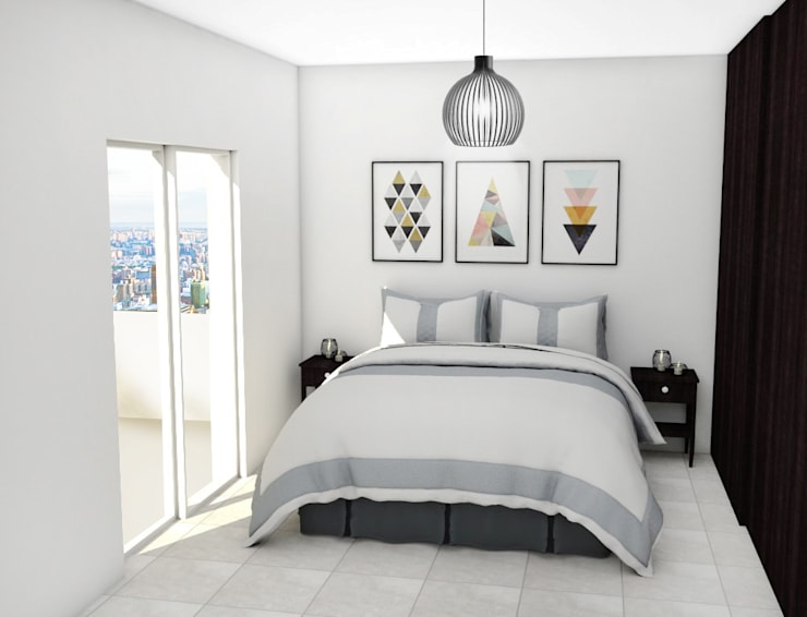 Dormitorios de estilo  por JACH