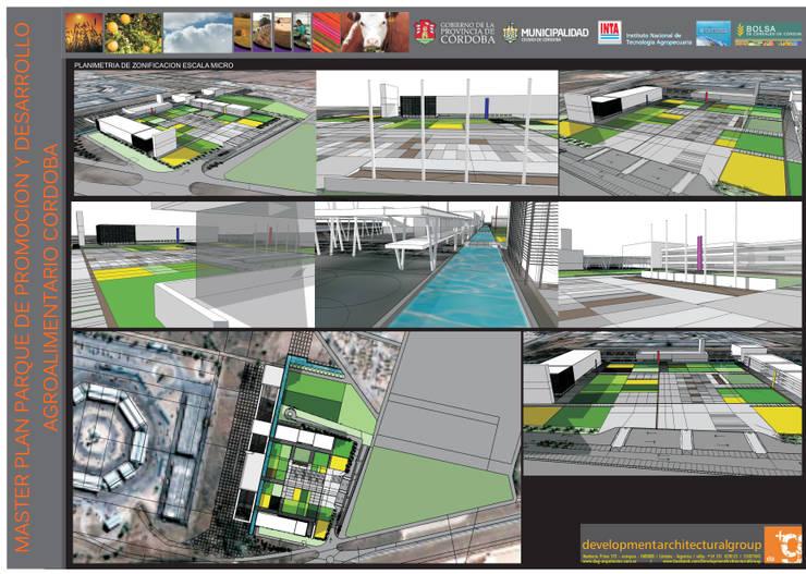 PLAN MAESTRO DEL PARQUE DE PROMOCION Y DESARROLLO AGROALIMENTARIO CORDOBA: Jardines de estilo  por Development Architectural group