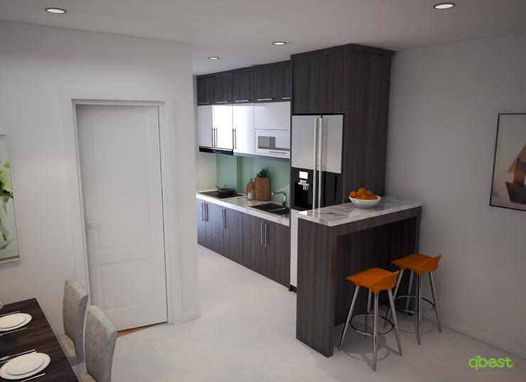 modern Kitchen by Công ty TNHH Thiết Kế và Ứng Dụng QBEST
