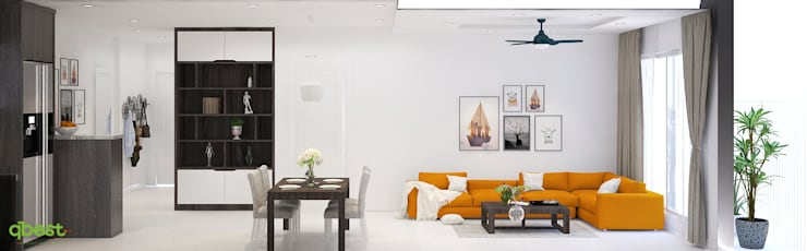 modern Living room by Công ty TNHH Thiết Kế và Ứng Dụng QBEST