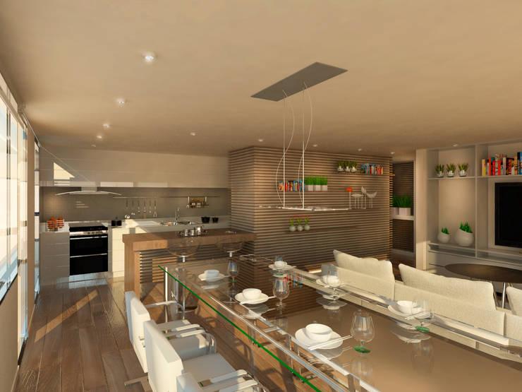 Salas de jantar  por Proa Arquitectura