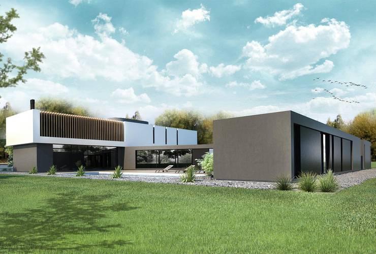 CASA PATRICIOS: Jardines de estilo  por Proa Arquitectura