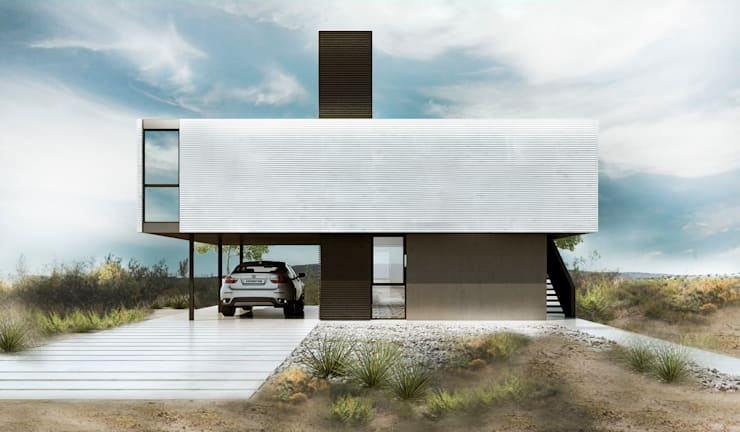CASA M: Jardines de estilo  por Proa Arquitectura