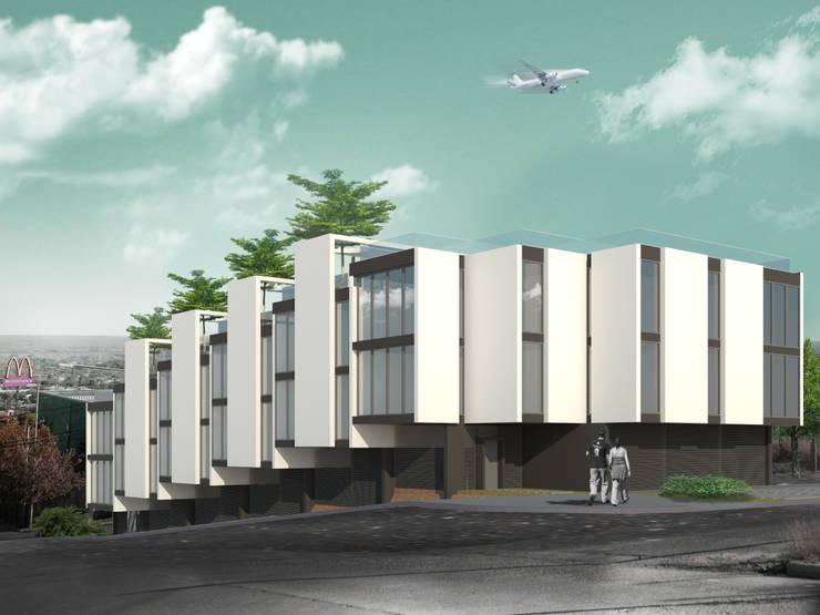 Departamentos en Barrio Gamma: Dormitorios de estilo  por Proa Arquitectura
