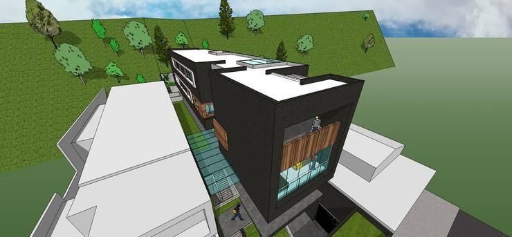 Vista aérea: Casas de estilo  por MARATEA Estudio