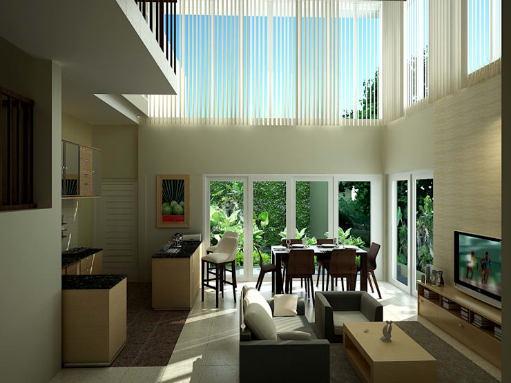 Living Room:   by Evolver Architects