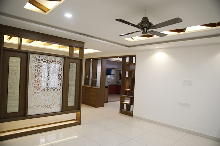Living Room Interior Design: asian Living room by Scale Inch Pvt. Ltd.