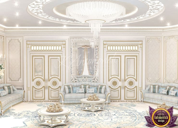 ​  Living room design ideas of Katrina Antonovich:  Living room by Luxury Antonovich Design