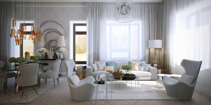 Salas de estilo ecléctico de ART Studio Design & Construction Ecléctico
