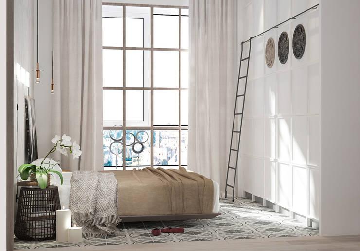 Camera da letto in stile  di ART Studio Design & Construction