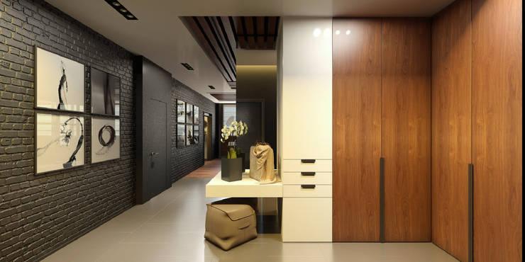 Pasillos y vestíbulos de estilo  de ART Studio Design & Construction