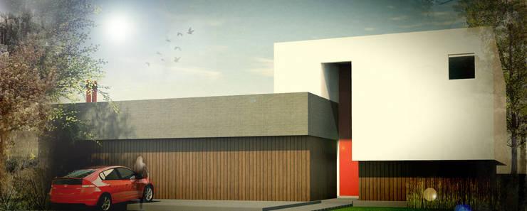 Fachada frontal : Casas de estilo  por Juan Pablo Muttoni,