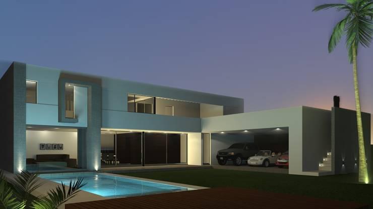 Vista norte: Casas de estilo  por Juan Pablo Muttoni,