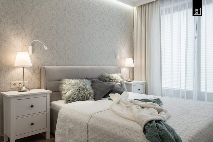 غرفة نوم تنفيذ Pracownie Wnętrz Kodo