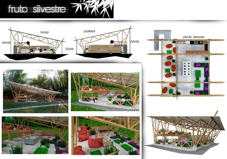 FRUTO SILVESTRE - UNIVERSIDAD DE IBAGUE.: Terrazas de estilo  por ProcesoLAB Arquitectos
