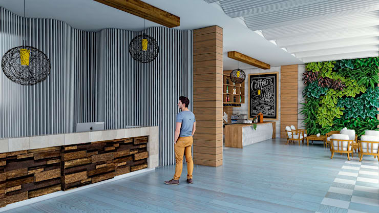 modern  by ProcesoLAB Arquitectos , Modern Wood Wood effect