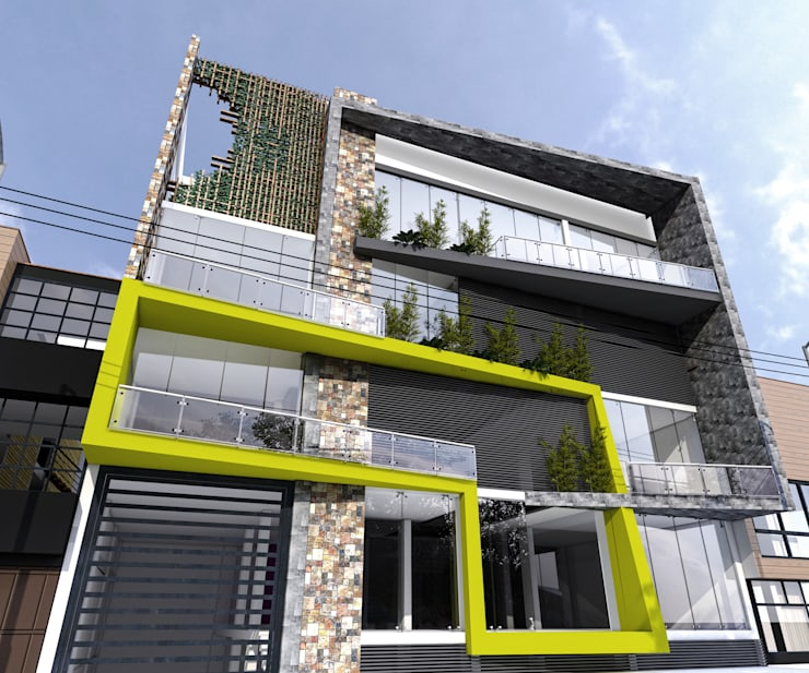 Edificio Caex. : Casas de estilo moderno por PROCESOLAB