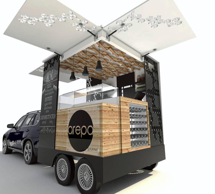 Food truck.: Comedor de estilo  por ProcesoLAB Arquitectos