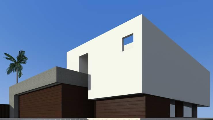 Vista sur-oeste y voladizo: Casas de estilo  por Juan Pablo Muttoni,