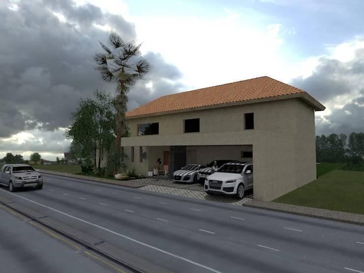 CASA LEWI : Casas de estilo moderno por MIRAVELA DESIGN