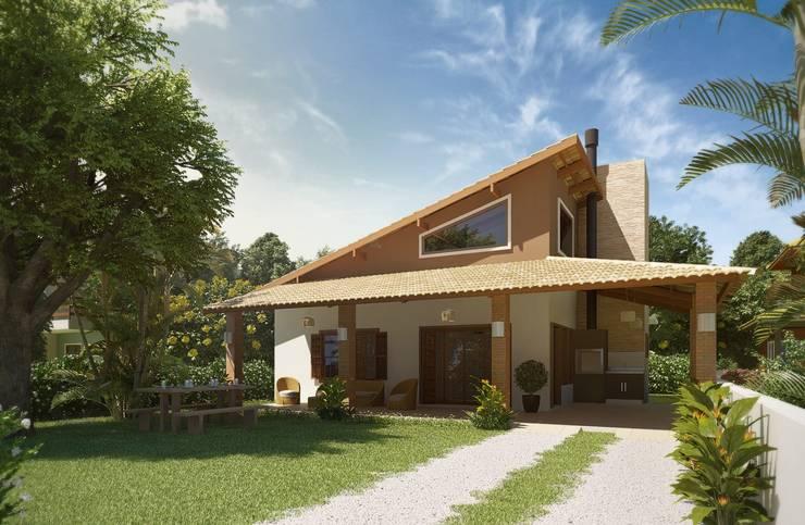 Casas de estilo  por daniel villela arquitetura