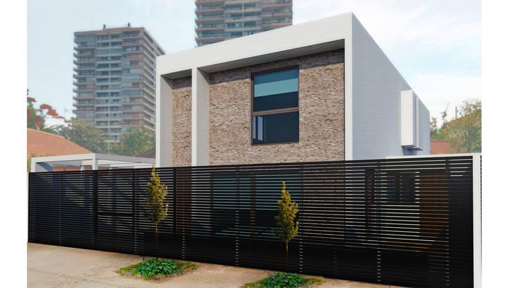 CASA SF: Casas de estilo  por NEF Arq.
