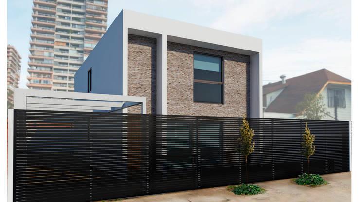 Casas de estilo  por NEF Arq.