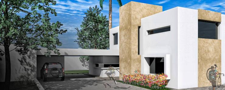 Fachada : Casas de estilo  por Juan Pablo Muttoni