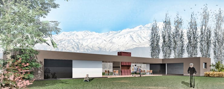 Anteproyecto Cabañas Valle de Uco: Casas de estilo  por Juan Pablo Muttoni,