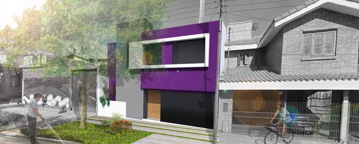 Fachada 2° Etapa : Casas de estilo  por Juan Pablo Muttoni